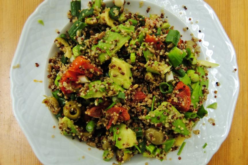 Gezonde Snelle Lunchsalade met Quinoa (vegan englutenvrij)
