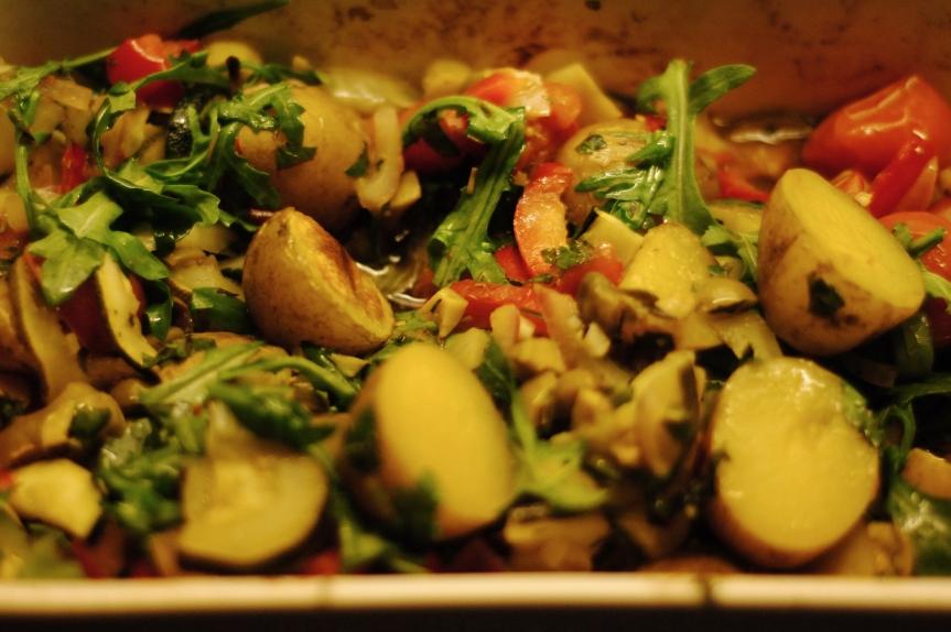 Ovenschotel van Gegrilde Groenten en Aardappeltjes met KruidigeLimoendressing