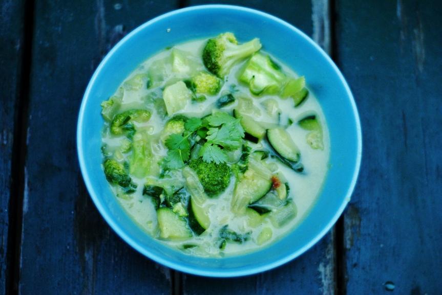 Vegan Groene Groentencurry(kokosvrij)