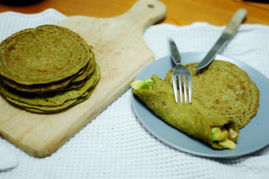 Hartige Groene Pannenkoeken van Warmoes (Glutenvrij &Vegan)