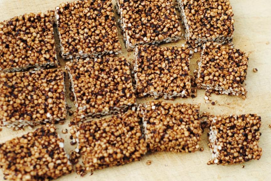 Quinoa & Chocolade Squares (Glutenvrij &Vegan)