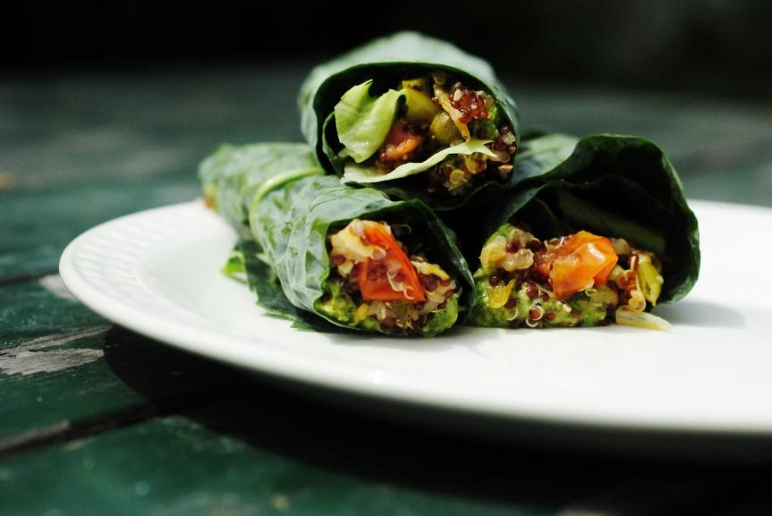 Groene Quinoa Wraps met Salsa Verde van Tuinbonen (Glutenvrij &Vegan)