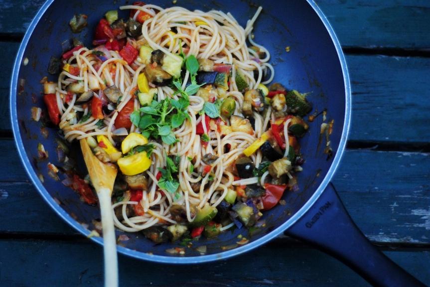 Vegetarische Spaghetti, Revisited (Glutenvrij &Vegan)